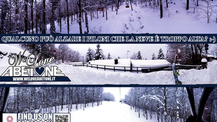 Nevicata di 60cm all'Abetone