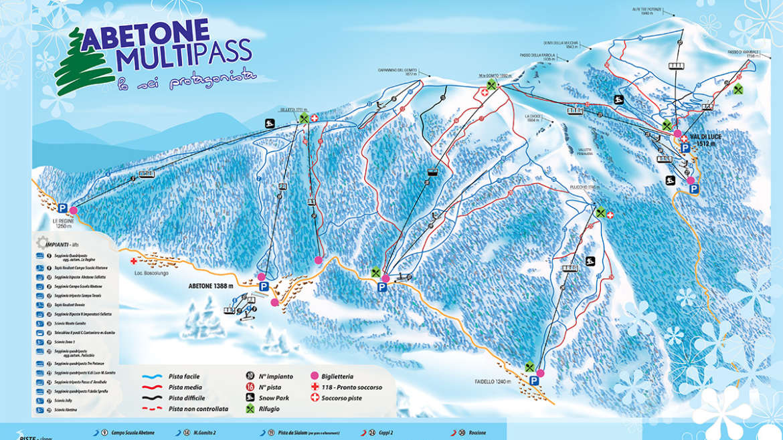 Mappa SkiArea