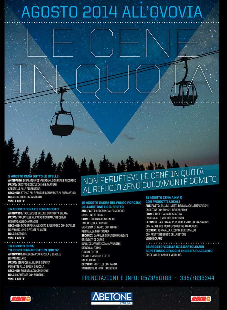 Cene e appuntamenti Agosto 2014