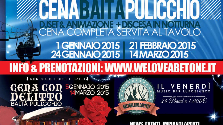 Eventi Ovovia&Pulicchio con WeLoveAbetone 2014/2015