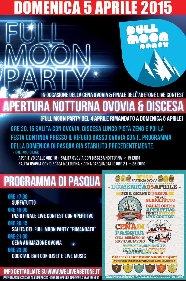 Full Moon Party | 4 Aprile 2015