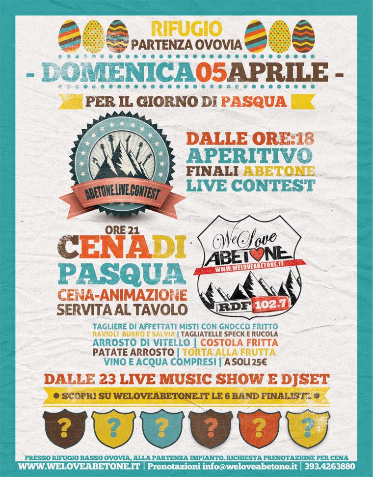Domenica di Pasqua | Finale Abetone Live Contest & Cena Ovovia