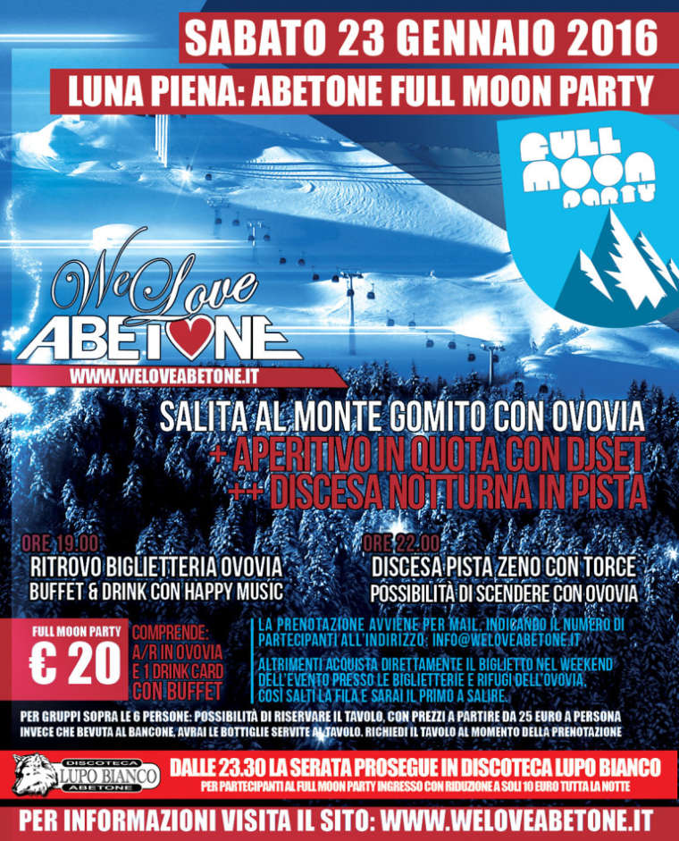 Full Moon Party | 23 Gennaio 2016