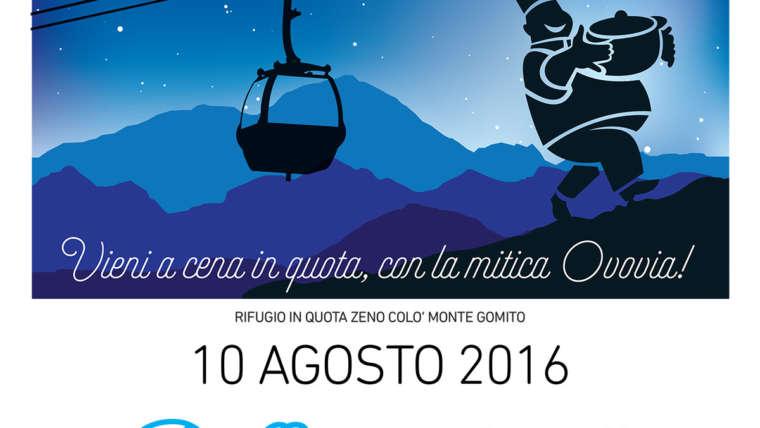 Cene in quota 2016 al rifugio Ovovia Zeno Colo