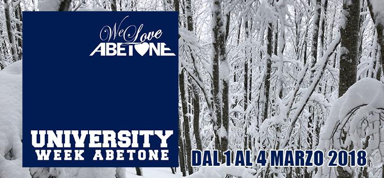 Abetone Univeristy Week: Settimana Universitaria ad Abetone, dal 1 al 4 Marzo 2018